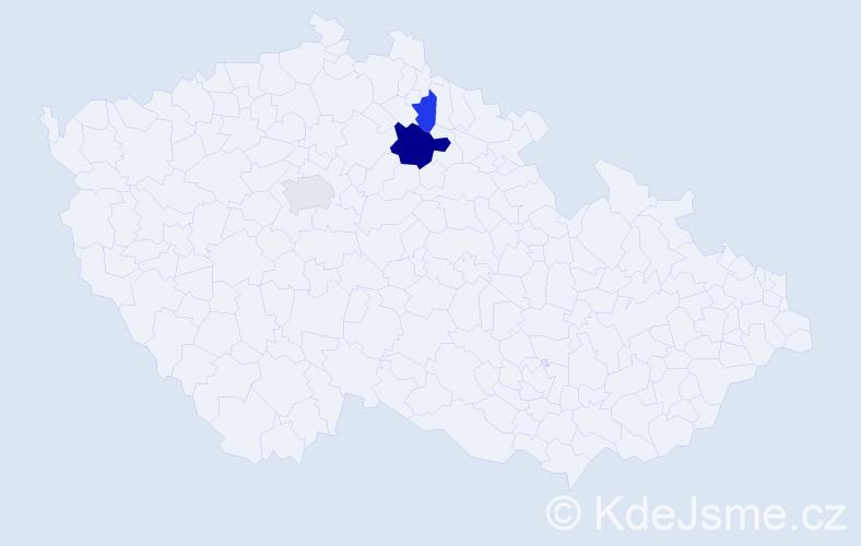 Příjmení: 'Gaubmann', počet výskytů 14 v celé ČR