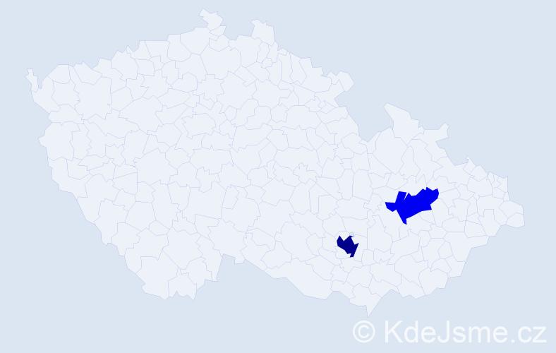 Příjmení: 'Giacintov', počet výskytů 7 v celé ČR