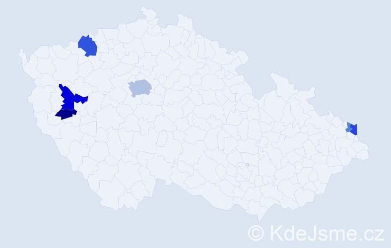 Příjmení: 'Erhardt', počet výskytů 13 v celé ČR