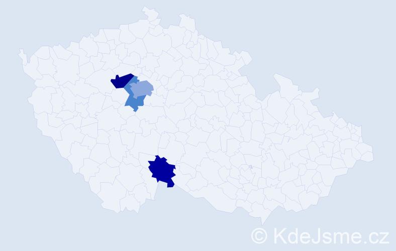 Příjmení: 'Kreil', počet výskytů 7 v celé ČR