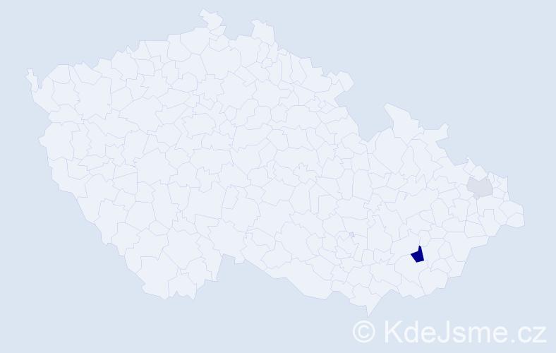 Příjmení: 'Karbowiak', počet výskytů 5 v celé ČR