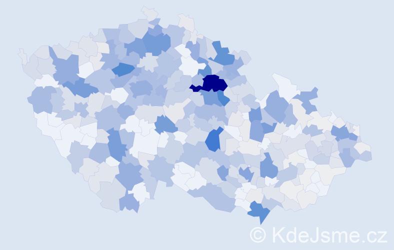 Příjmení: 'Košťál', počet výskytů 1855 v celé ČR
