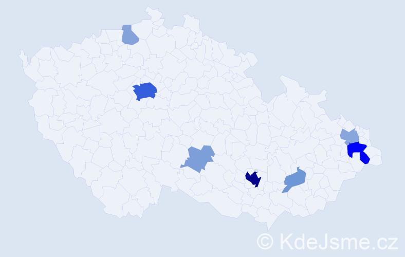 Příjmení: 'García', počet výskytů 35 v celé ČR