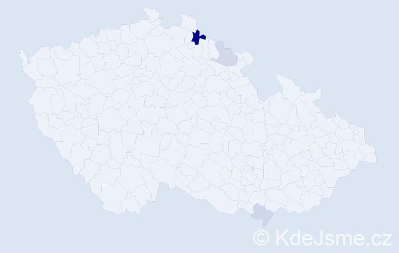 Příjmení: 'Kotrbanec', počet výskytů 7 v celé ČR