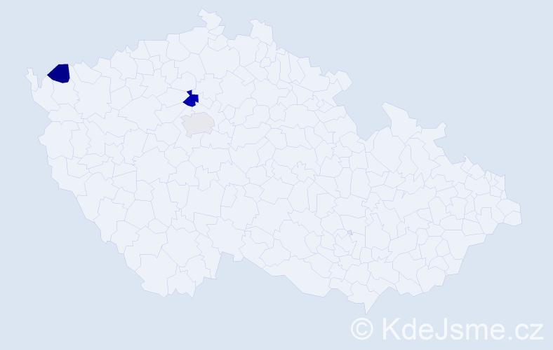 Příjmení: 'Fontána', počet výskytů 4 v celé ČR