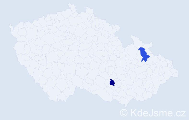 Příjmení: 'Láňo', počet výskytů 4 v celé ČR