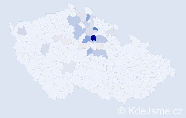 Příjmení: 'Hloucalová', počet výskytů 99 v celé ČR