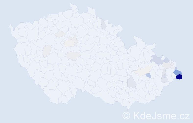Příjmení: 'Hamrozi', počet výskytů 113 v celé ČR