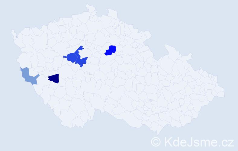 Příjmení: 'Freudenfeld', počet výskytů 12 v celé ČR
