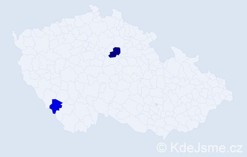 Příjmení: 'Klinčuch', počet výskytů 3 v celé ČR