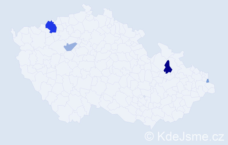 Příjmení: 'Ďuratný', počet výskytů 11 v celé ČR