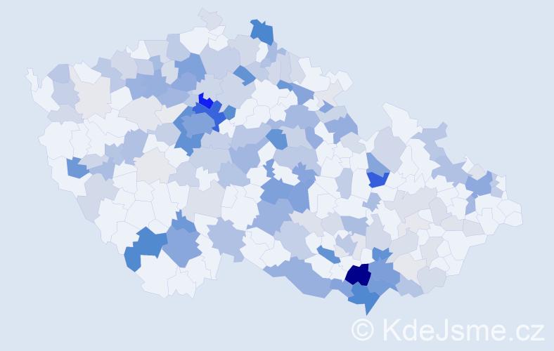 Příjmení: 'Bukovský', počet výskytů 625 v celé ČR