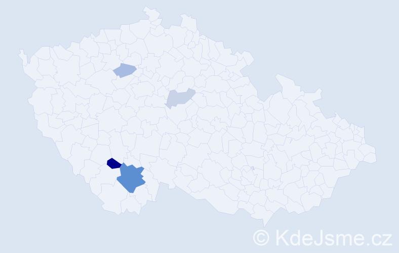 Příjmení: 'Ivančov', počet výskytů 12 v celé ČR