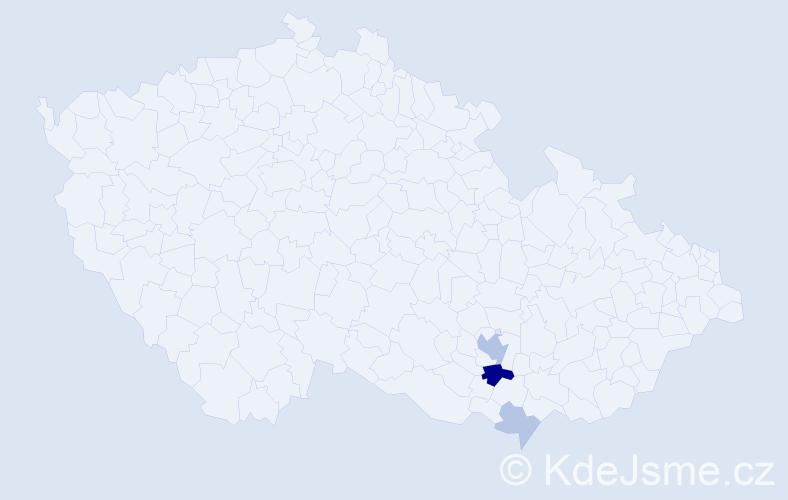 Příjmení: 'Lautrbachová', počet výskytů 9 v celé ČR