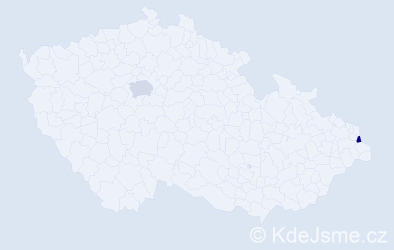 Příjmení: 'Besirská', počet výskytů 5 v celé ČR