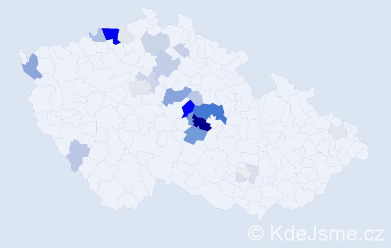 Příjmení: 'Hamsová', počet výskytů 95 v celé ČR