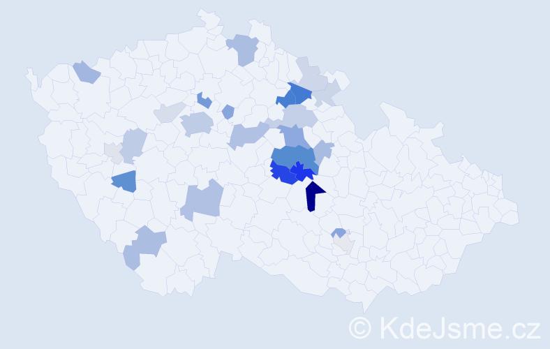 Příjmení: 'Bonaventura', počet výskytů 63 v celé ČR