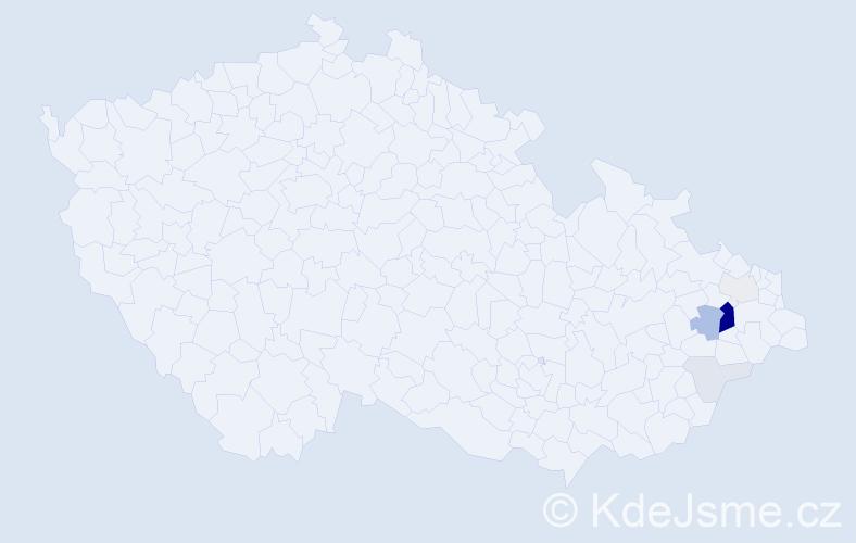 Příjmení: 'Domitra', počet výskytů 24 v celé ČR