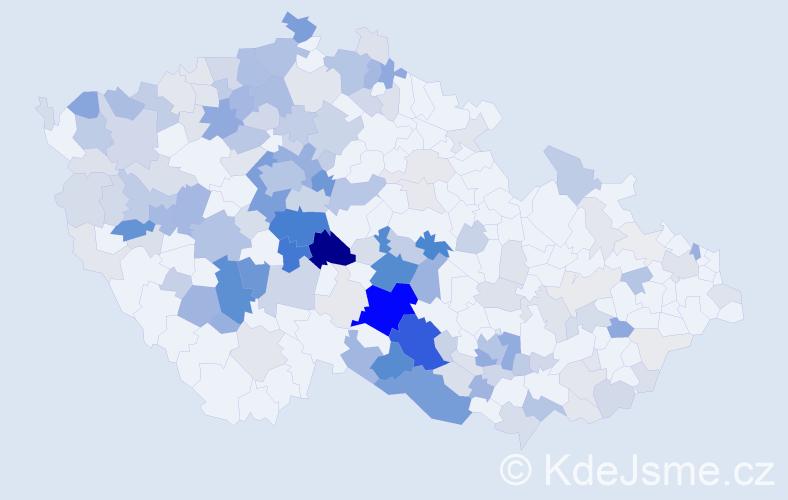 Příjmení: 'Brabenec', počet výskytů 714 v celé ČR