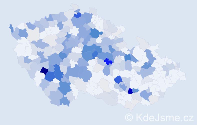 Příjmení: 'Kropáček', počet výskytů 894 v celé ČR