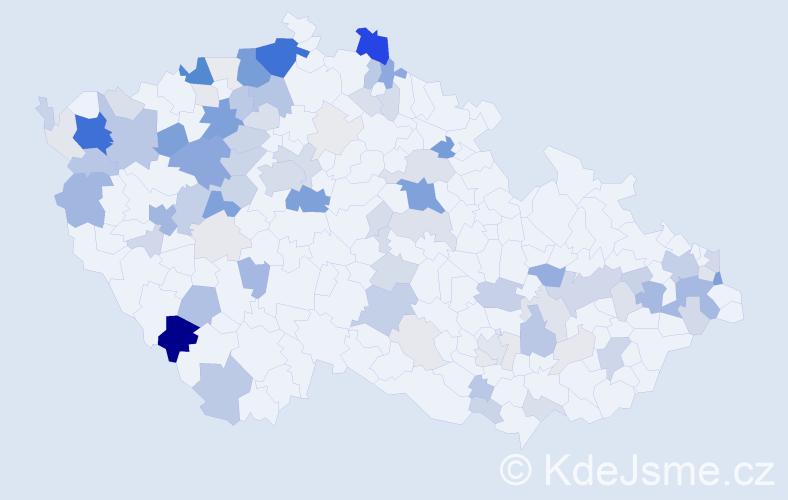 Příjmení: 'Hanko', počet výskytů 354 v celé ČR