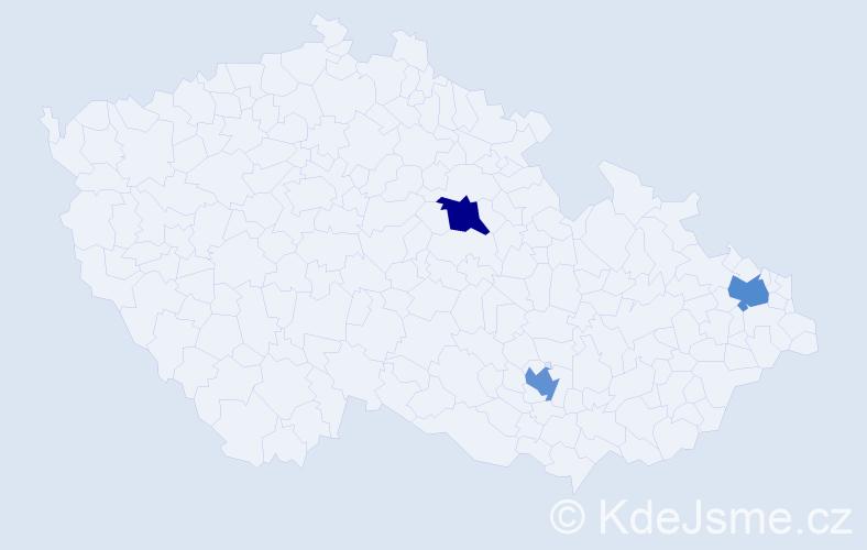 Příjmení: 'Gottweiss', počet výskytů 3 v celé ČR