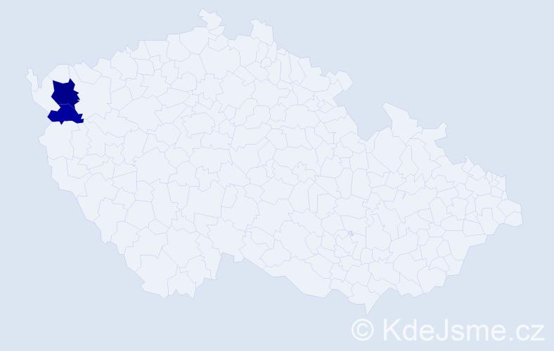 Příjmení: 'Gálko', počet výskytů 4 v celé ČR