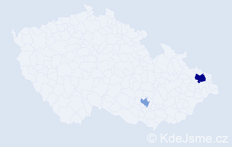Příjmení: 'Apostolopoulos', počet výskytů 4 v celé ČR