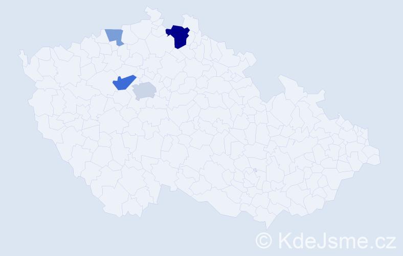 Příjmení: 'Eichlová', počet výskytů 9 v celé ČR