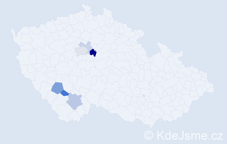 Příjmení: 'Čistotová', počet výskytů 13 v celé ČR