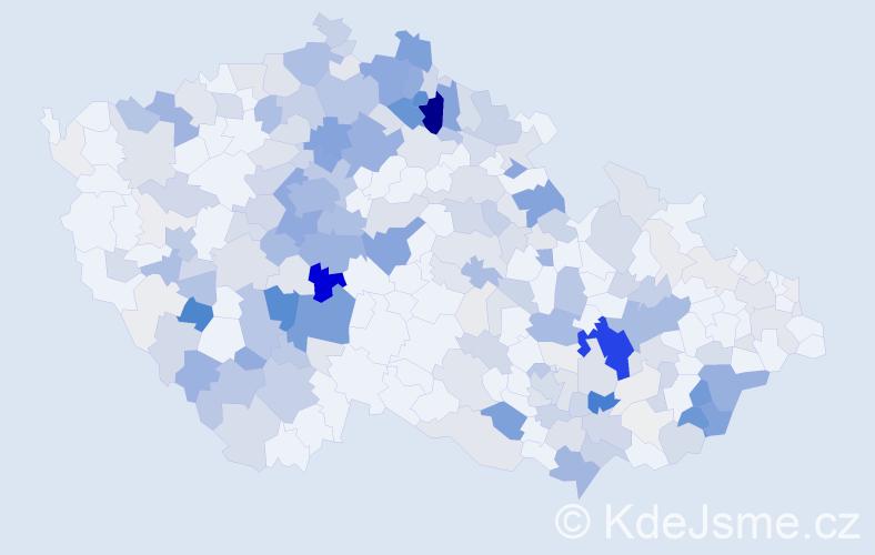 Příjmení: 'Buriánková', počet výskytů 968 v celé ČR