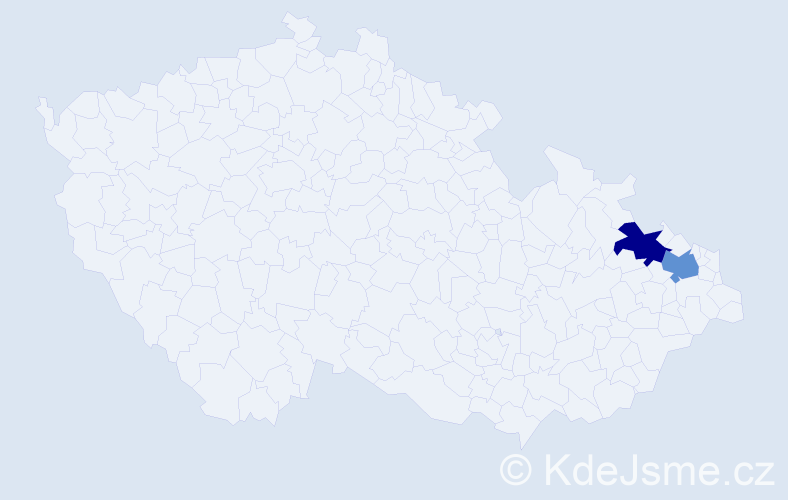 Příjmení: 'Barwigová', počet výskytů 2 v celé ČR
