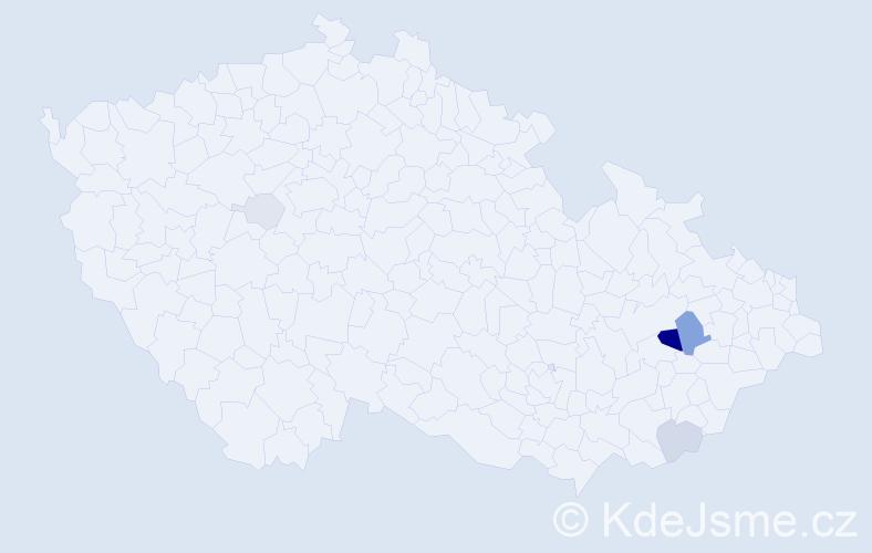 Příjmení: 'Cifr', počet výskytů 17 v celé ČR