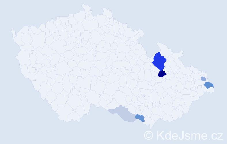 Příjmení: 'Gogolka', počet výskytů 16 v celé ČR