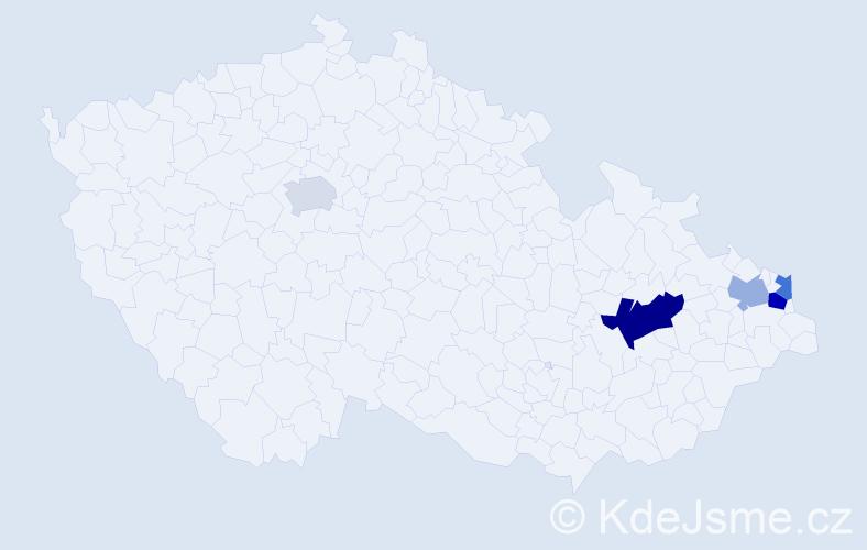 Příjmení: 'Chodurková', počet výskytů 8 v celé ČR