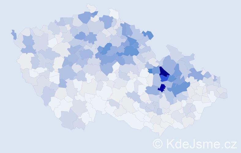 Příjmení: 'Hamplová', počet výskytů 2055 v celé ČR