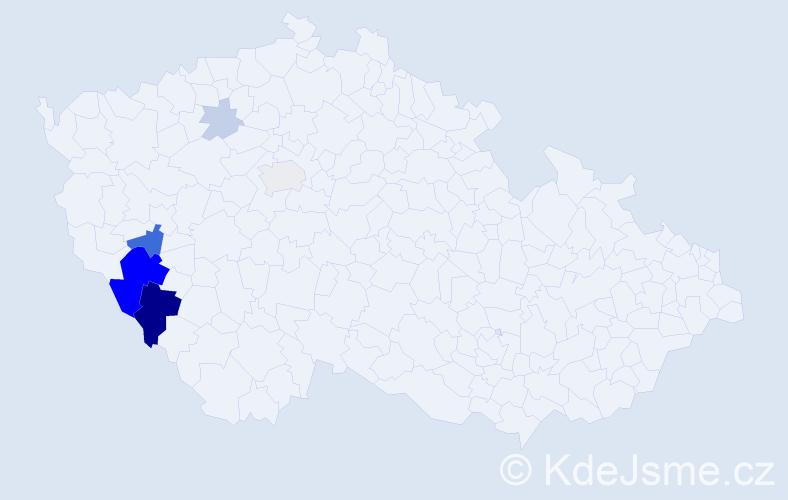 Příjmení: 'Grőssl', počet výskytů 22 v celé ČR