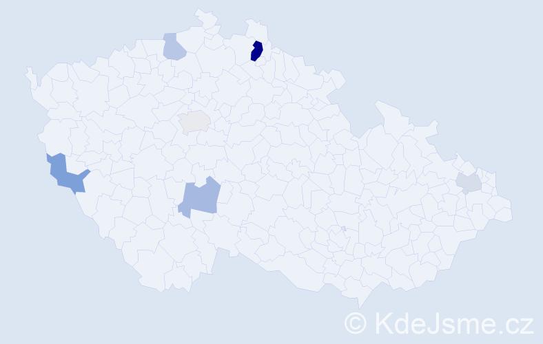 Příjmení: 'Edererová', počet výskytů 11 v celé ČR