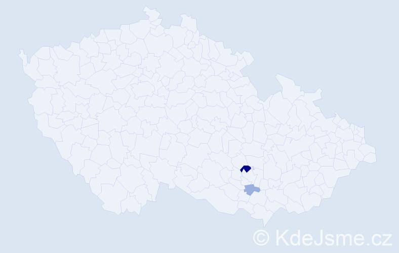 Příjmení: 'Jaskulka', počet výskytů 5 v celé ČR