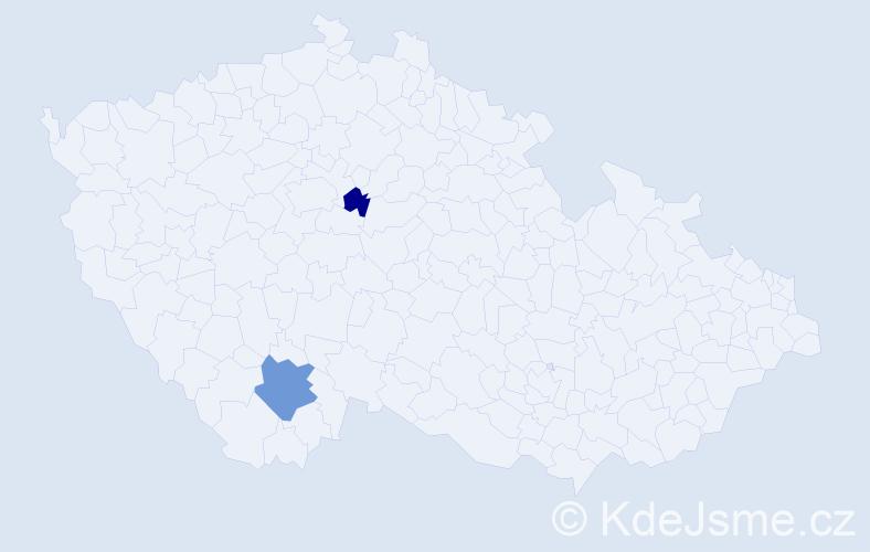Příjmení: 'Gurčík', počet výskytů 3 v celé ČR