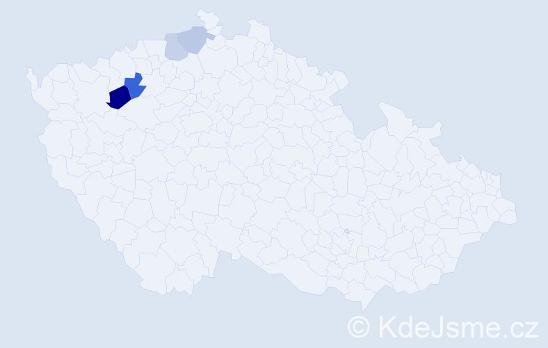 Příjmení: 'Heryšerová', počet výskytů 6 v celé ČR