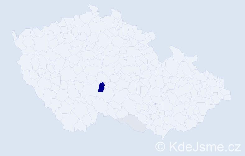 Příjmení: 'Csévar', počet výskytů 5 v celé ČR