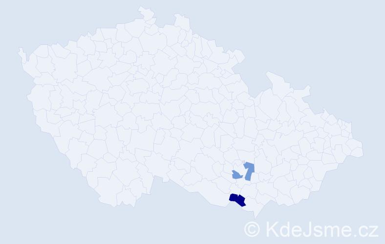 Příjmení: 'Elagin', počet výskytů 4 v celé ČR