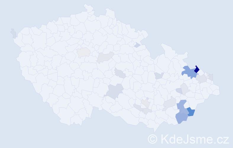 Příjmení: 'Běláková', počet výskytů 113 v celé ČR