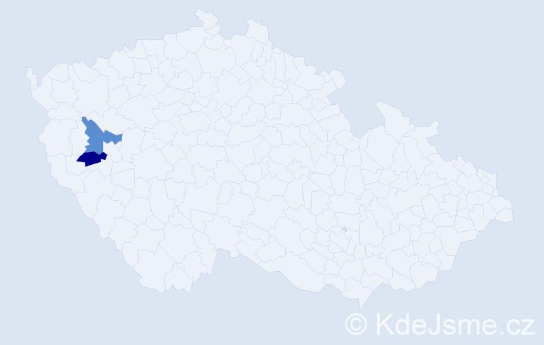 Příjmení: 'Irrlacher', počet výskytů 2 v celé ČR