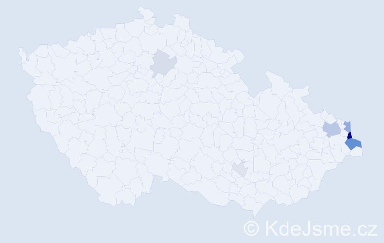 Příjmení: 'Dziadek', počet výskytů 22 v celé ČR
