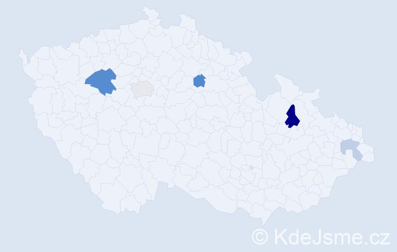 Příjmení: 'Ikrényiová', počet výskytů 9 v celé ČR