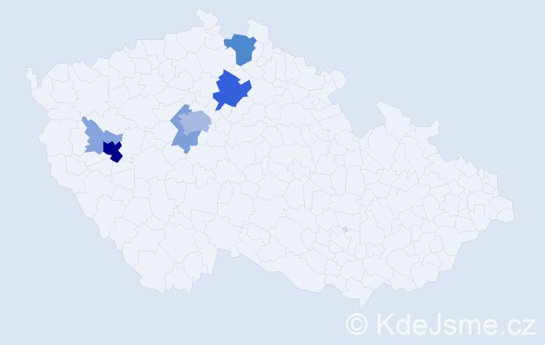 Příjmení: 'Feřt', počet výskytů 29 v celé ČR