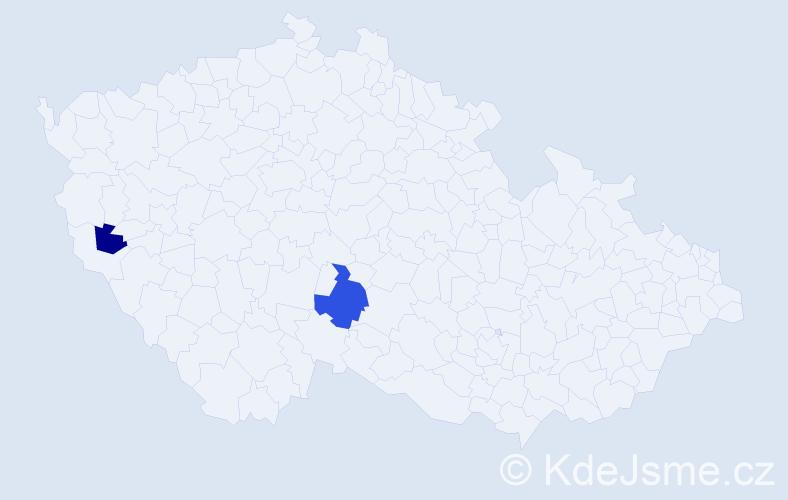 Příjmení: 'Hlodník', počet výskytů 3 v celé ČR