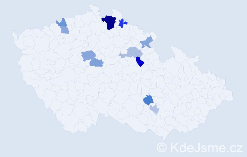 Příjmení: 'Heislerová', počet výskytů 27 v celé ČR